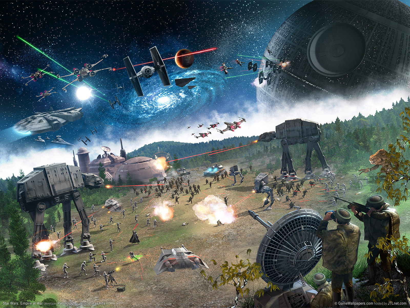 video game star wars empire at war x wing tie fighter at