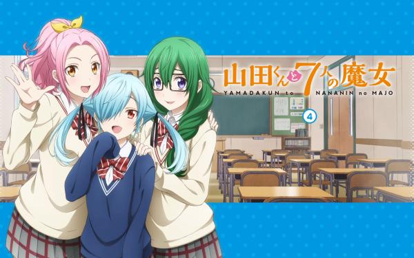 Anime Yamada-kun and the Seven Witches Maria Sarushima Noa Takigawa Meiko Otsuka HD Wallpaper   Background Image