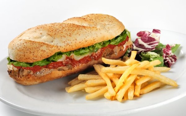 Food Sandwich Bread Roll Lunch French Fries Meal HD Wallpaper | Background Image