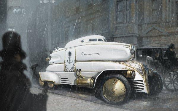 Sci Fi Steampunk Car Vehicle HD Wallpaper | Background Image