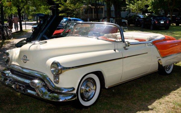 Vehicles 1953 Oldsmobile Ninety-Eight Fiesta Convertible Oldsmobile Car Convertible HD Wallpaper | Background Image