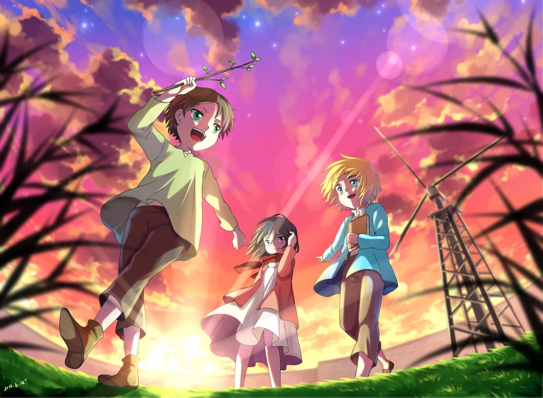Eren mikasa and armin hd wallpaper background image 2730x2000 id 653485 wallpaper abyss - Eren and mikasa wallpaper ...