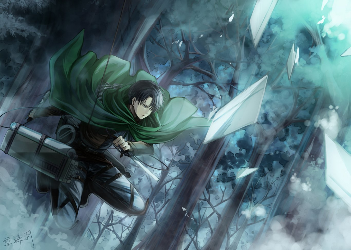 Levi Ackerman Wallpaper And Background Image 1366x973 Id 653505 Wallpaper Abyss