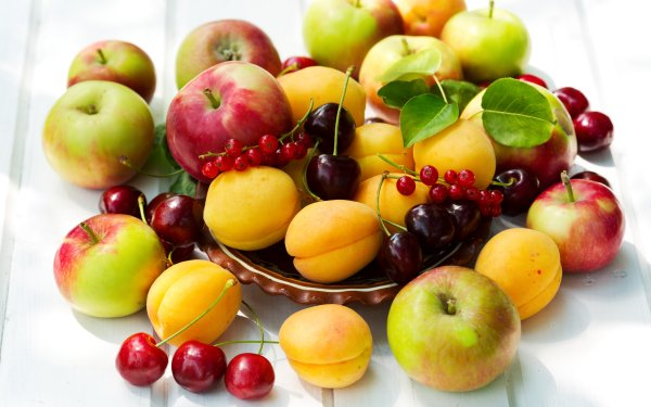 Food Fruit Fruits Berry Apple Apricot Cherry HD Wallpaper | Background Image