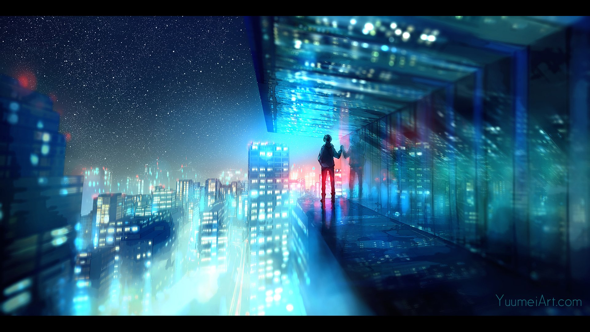 Anime - Original  Cityscape Wallpaper
