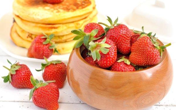 Alimento Fresa Frutas Panqueque Fondo de pantalla HD | Fondo de Escritorio