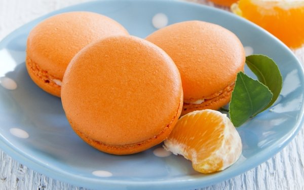Food Macaron Mandarin HD Wallpaper | Background Image