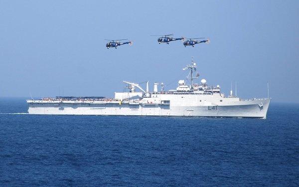 Militär Indian Navy Warships Navy Helicopter Amphibious Transport Dock Amphibious Warfare Ship Warship INS Jalashwa HD Wallpaper | Background Image