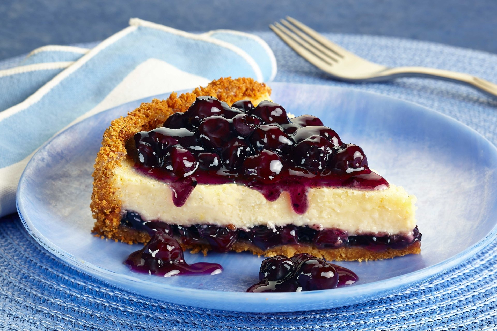 Food - Pie  Blueberry Cheesecake Dessert Sweets Wallpaper