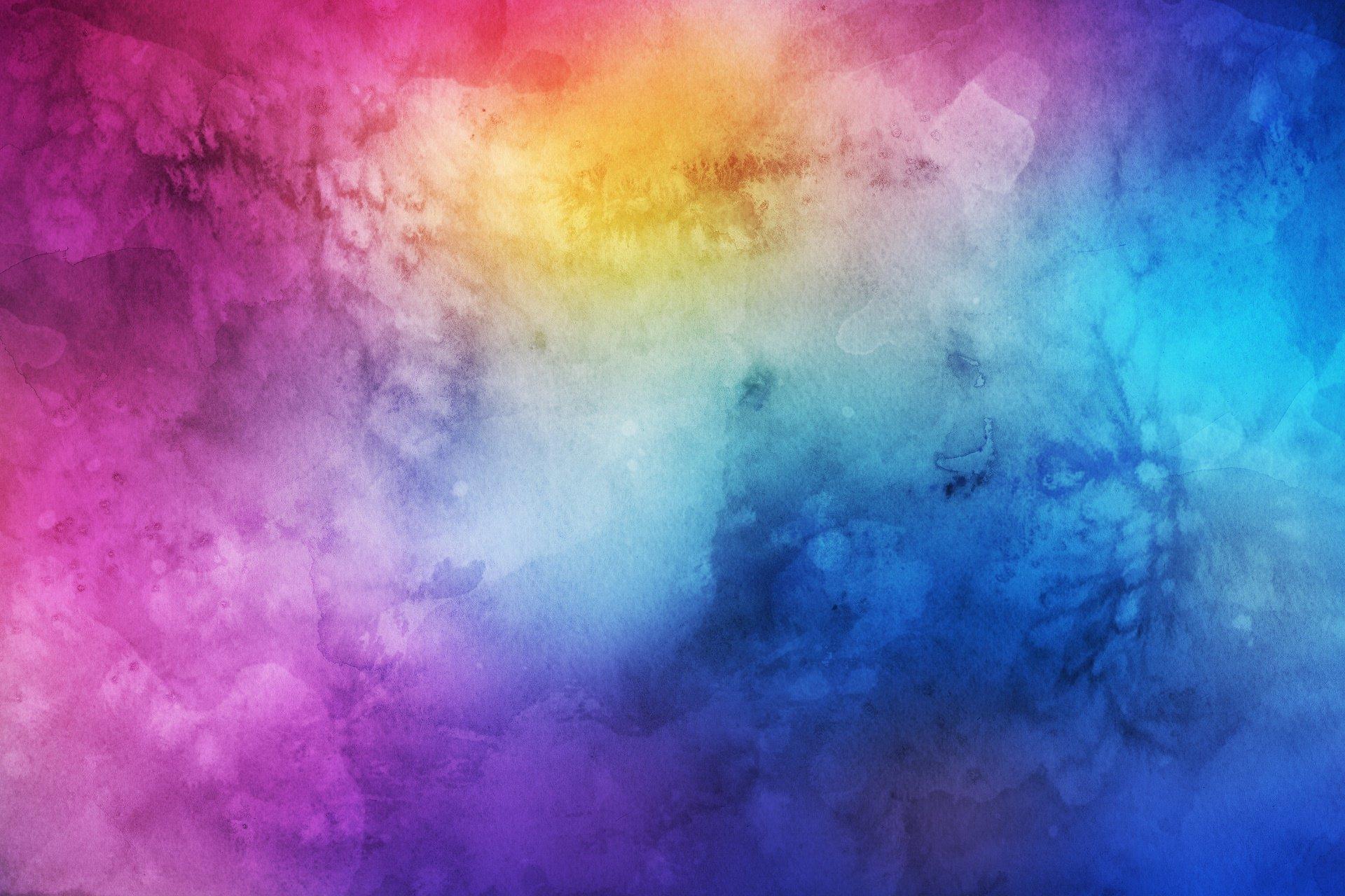 Free Photo Watercolors Rainbow Colors Lilac: Watercolor HD Wallpaper