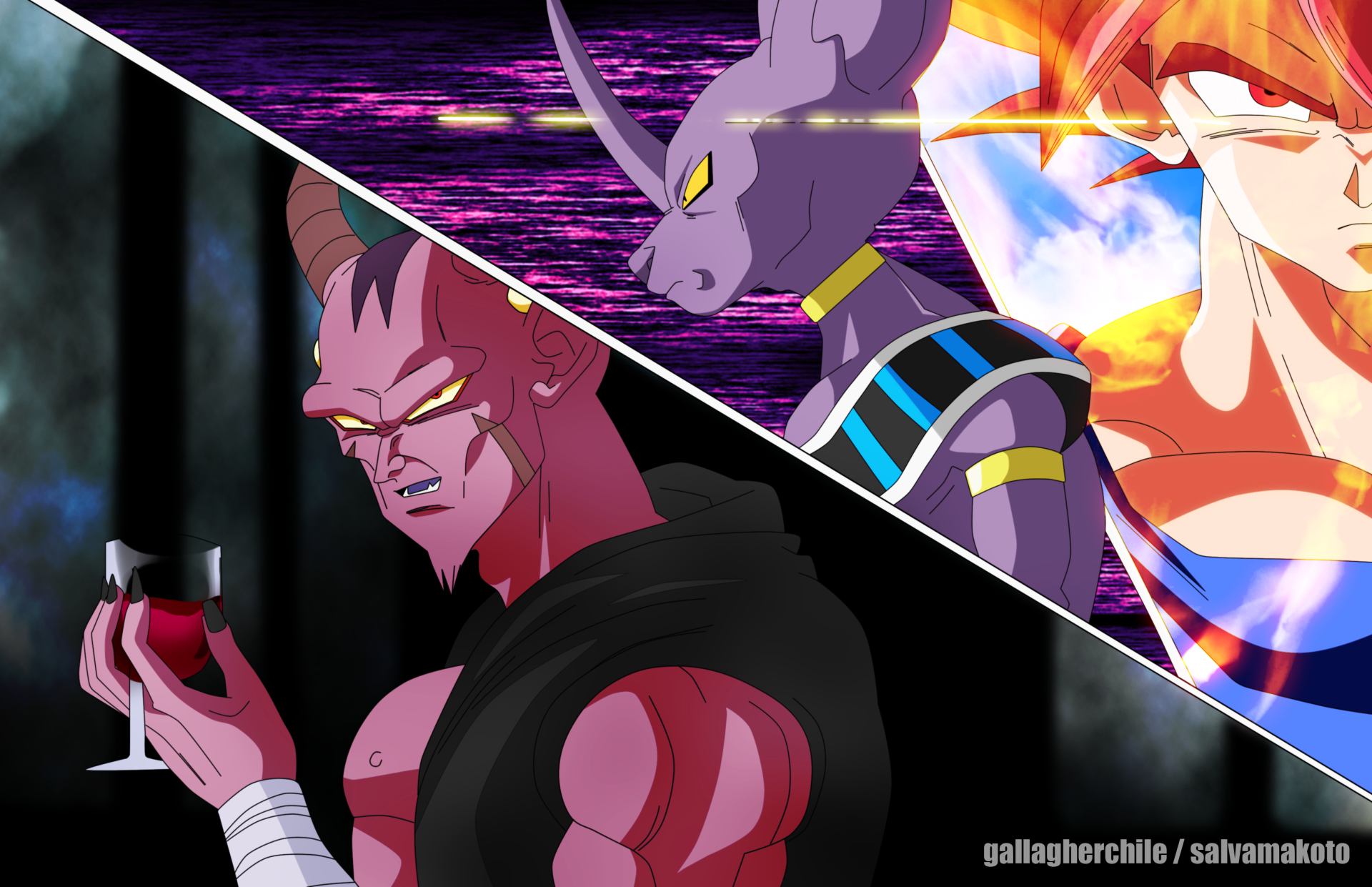 Anime - Dragon Ball Super  Goku Beerus (Dragon Ball) Wallpaper