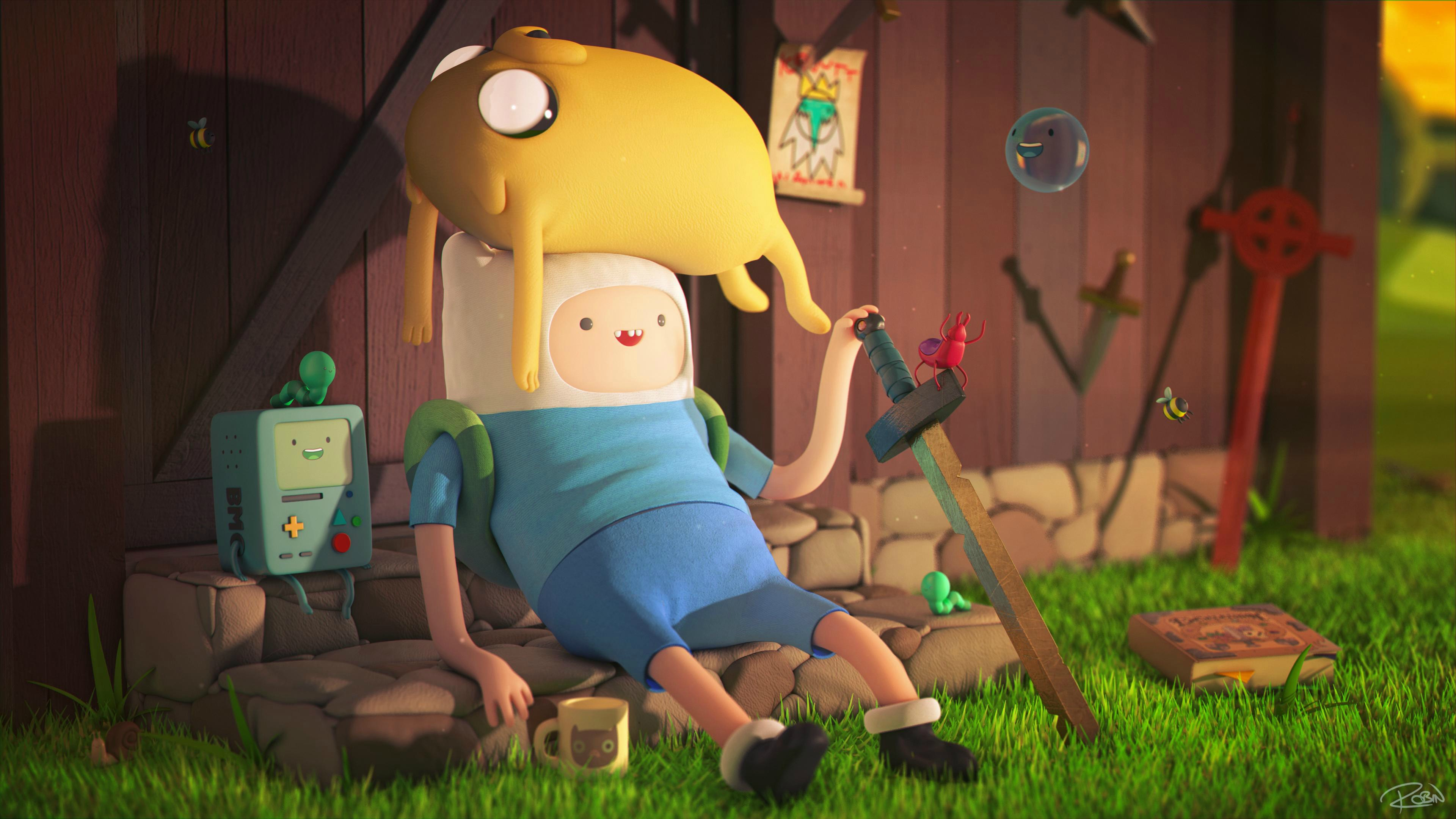 Adventure Time 4k Ultra HD Wallpaper | Background Image ...