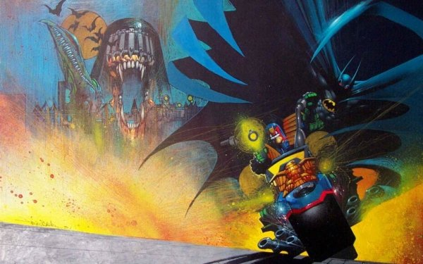 Comics Batman/Judge Dredd: Judgment on Gotham Judge Dredd Batman HD Wallpaper | Background Image