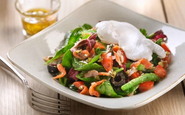 Food Salade Lyonnaise Egg Lunch Meal HD Wallpaper   Background Image