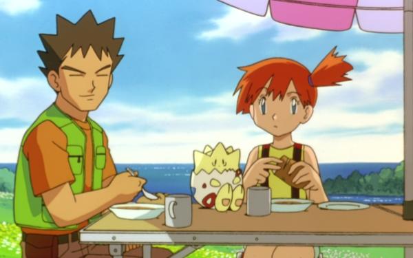 Anime Pokémon The Movie: Mewtwo Strikes Back Pokémon Brock Misty Togepi Fondo de pantalla HD | Fondo de Escritorio