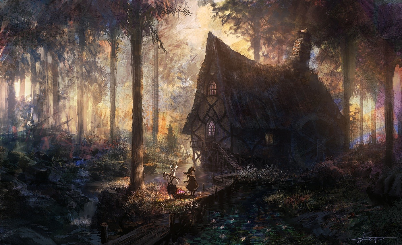 House In The Forest Wallpaper And Background Image