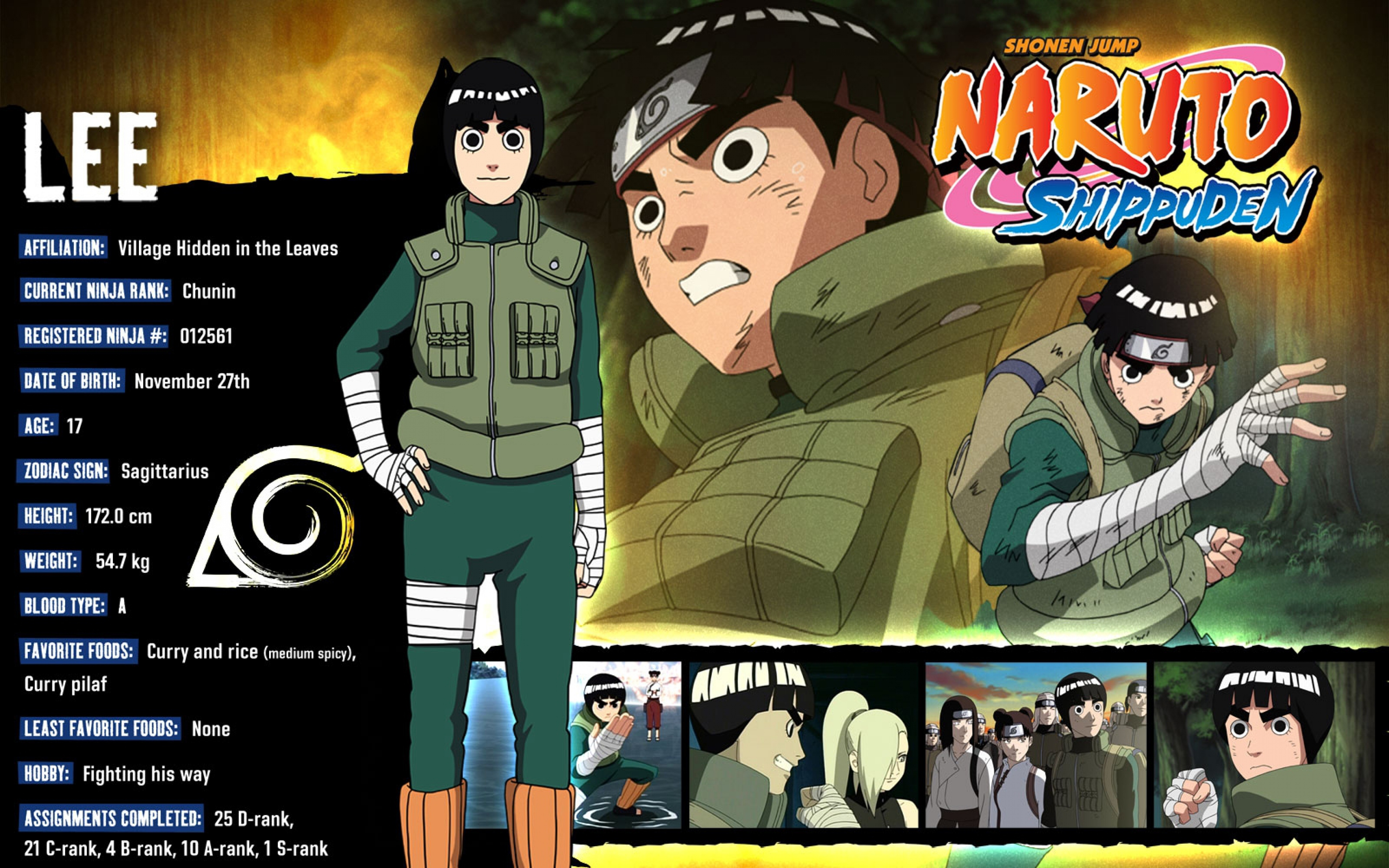 21 Rock Lee HD Wallpapers | Backgrounds - Wallpaper Abyss