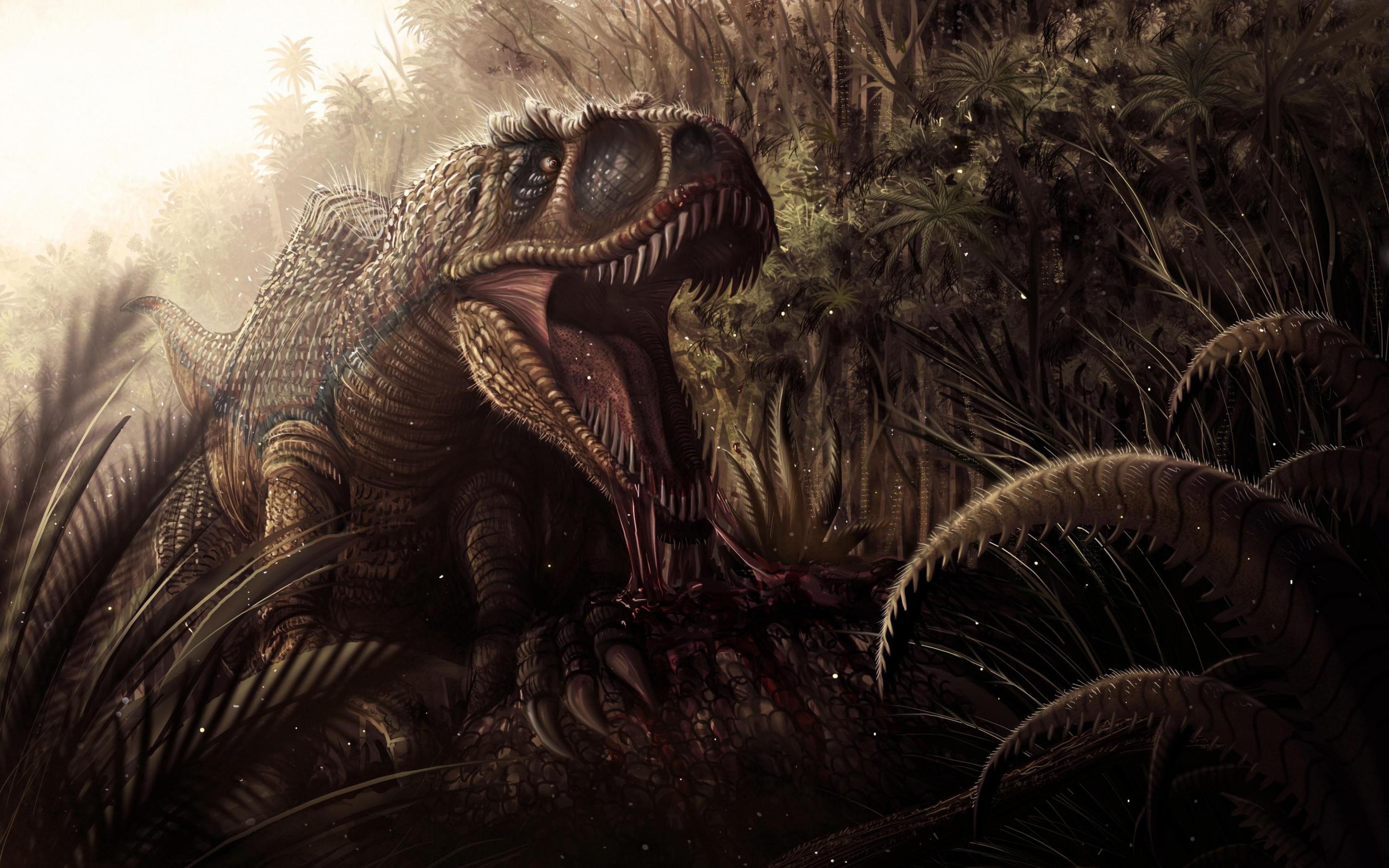 Animal Dinosaur Creature Tyrannosaurus Rex Wallpaper