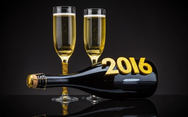 Holiday New Year 2016 New Year Champagne HD Wallpaper   Background Image