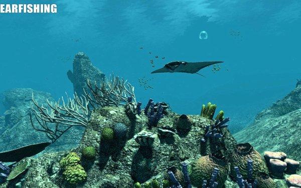 Video Game Spearfishing Underwater Stingray HD Wallpaper | Background Image