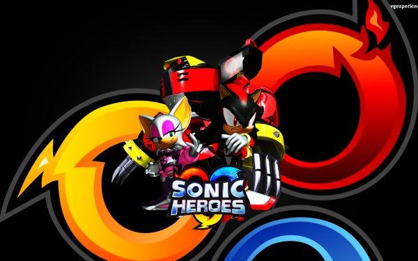 Video Game Sonic Heroes Sonic Shadow the Hedgehog E-123 Omega Rouge the Bat HD Wallpaper | Background Image