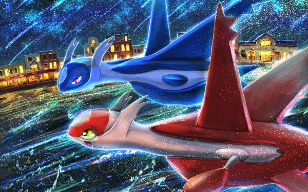 Anime Pokémon: Heroes Pokémon Latias Latios Fond d'écran HD | Arrière-Plan