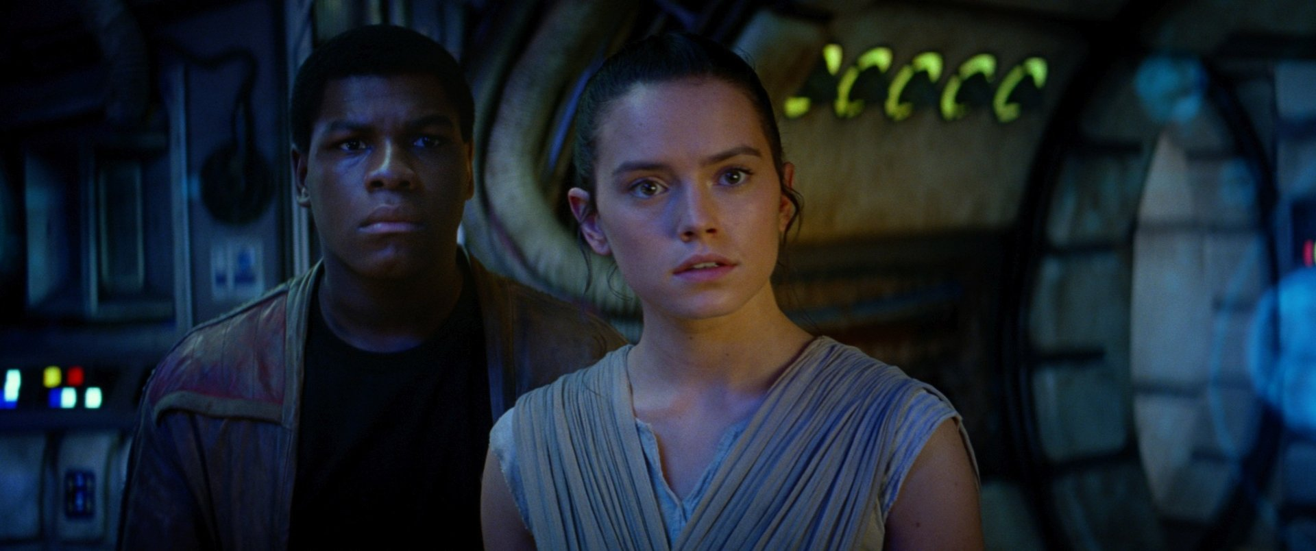 Movie - Star Wars Episode VII: The Force Awakens  Star Wars Rey (Star Wars) Daisy Ridley John Boyega Finn (Star Wars) Wallpaper