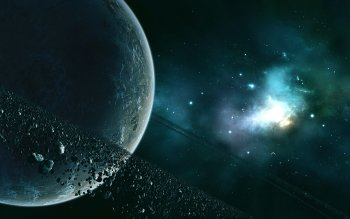 Fantascienza - Planetary Ring Wallpapers and Backgrounds