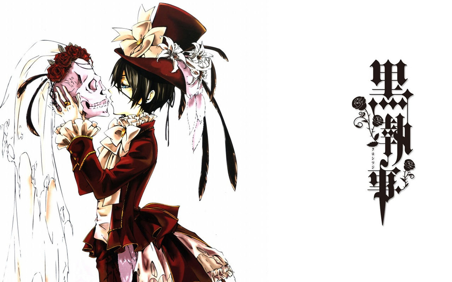 black butler wallpaper ciel and sebastian