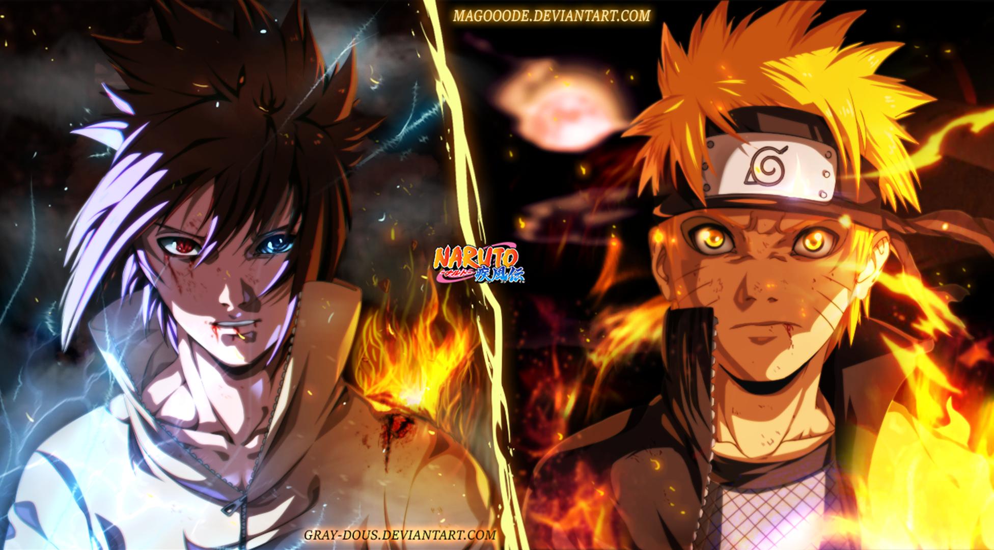 Naruto And Sasuke Fond Décran And Arrière Plan 1366x825 Id