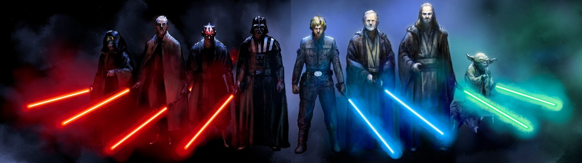 Sci Fi - Star Wars  Darth Vader Darth Maul Yoda Obi-Wan Kenobi Sith (Star Wars) Jedi Lightsaber Qui-gon Jinn Wallpaper