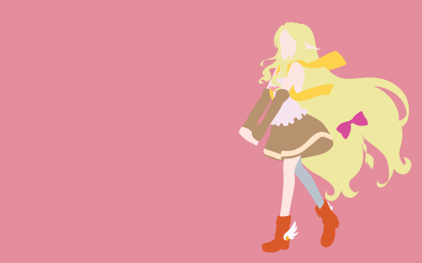 Anime No Game No Life Fiel Nirvalen Blonde Long Hair Boots Skirt bow Minimalist HD Wallpaper | Background Image