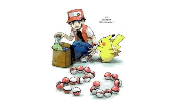 Videojuego Pokémon: Rojo y Azul Pokémon Pikachu Red Pokeball Chico Fondo de pantalla HD   Fondo de Escritorio