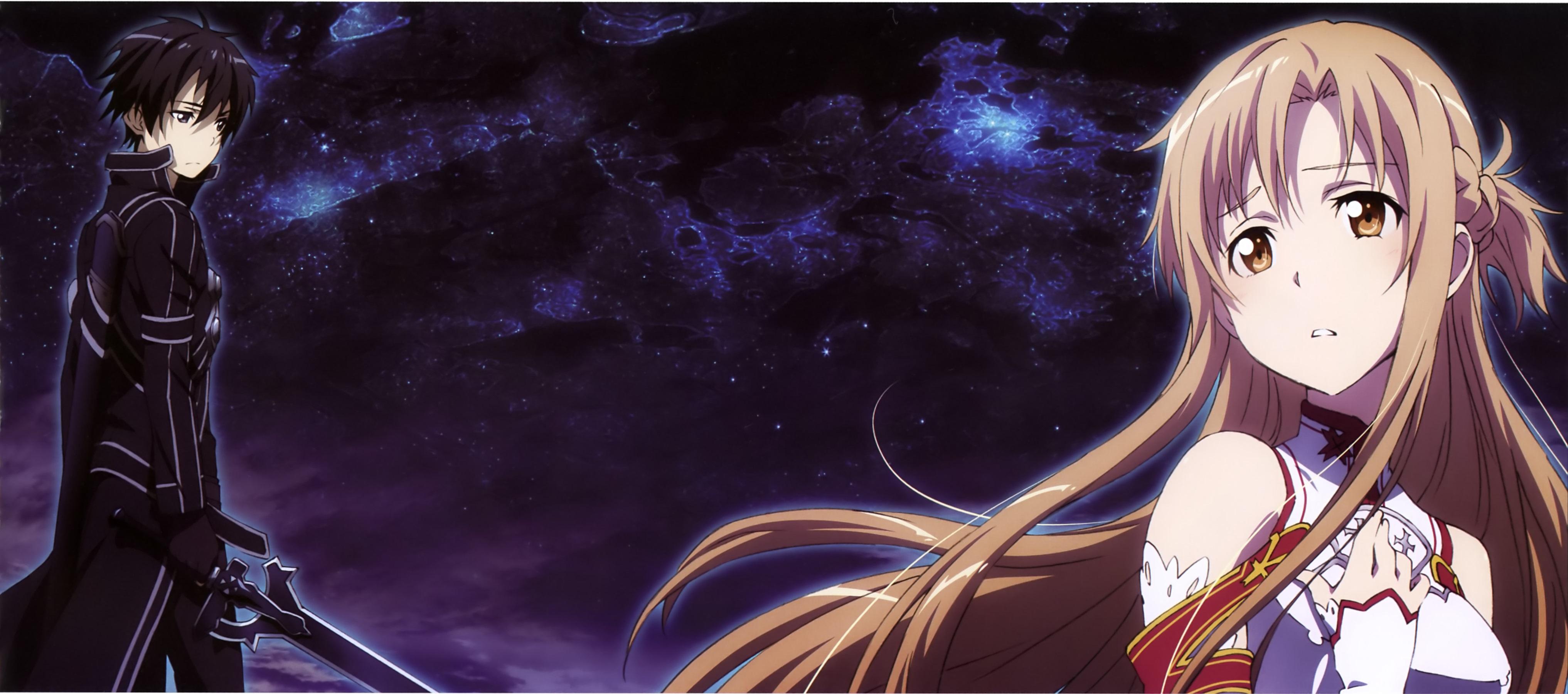 Kirito and asuna fondo de pantalla hd fondo de - Anime para fondo ...