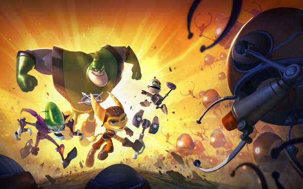 Video Game Ratchet & Clank: All For One Ratchet & Clank HD Wallpaper   Background Image