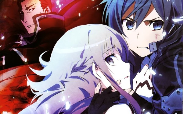 Anime Sword Art Online Asuna Yuuki Kirito Heathcliff Fondo de pantalla HD | Fondo de Escritorio