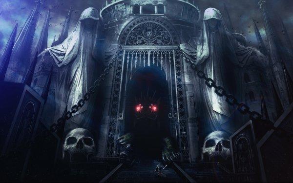 Oscuro Castle Castillos Caballero Criatura Guerrero Fondo de pantalla HD | Fondo de Escritorio