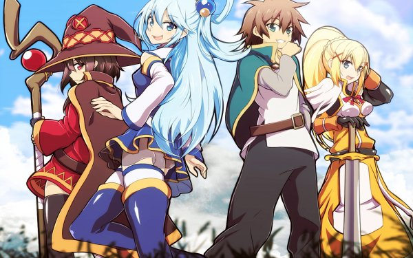 Anime KonoSuba – God's blessing on this wonderful world!! Megumin Aqua Kazuma Satou Darkness HD Wallpaper   Background Image