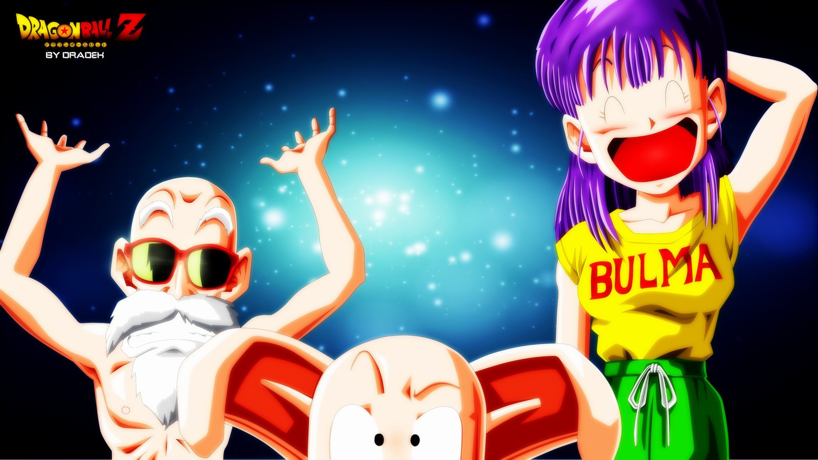 Bulma, Oolong and Master Roshi Wallpaper and Background ...