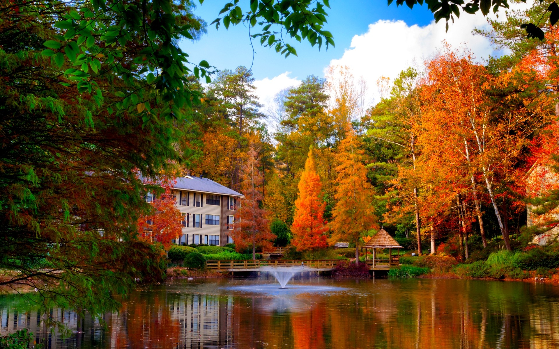 Haus am see wallpaper  House on the Lake in Autumn Full HD Wallpaper and Hintergrund ...