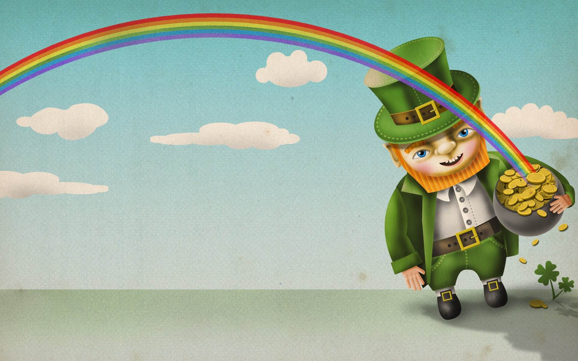 Holiday - St. Patrick's Day  Leprechaun Rainbow Gold Wallpaper