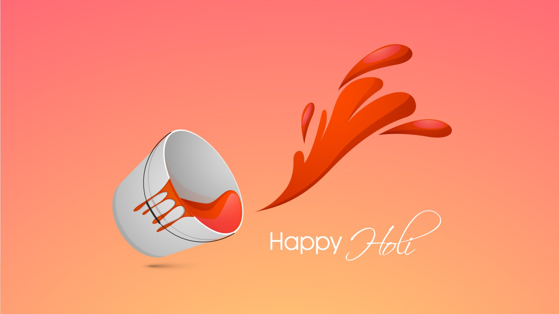 Holiday - Holi  Red Wallpaper