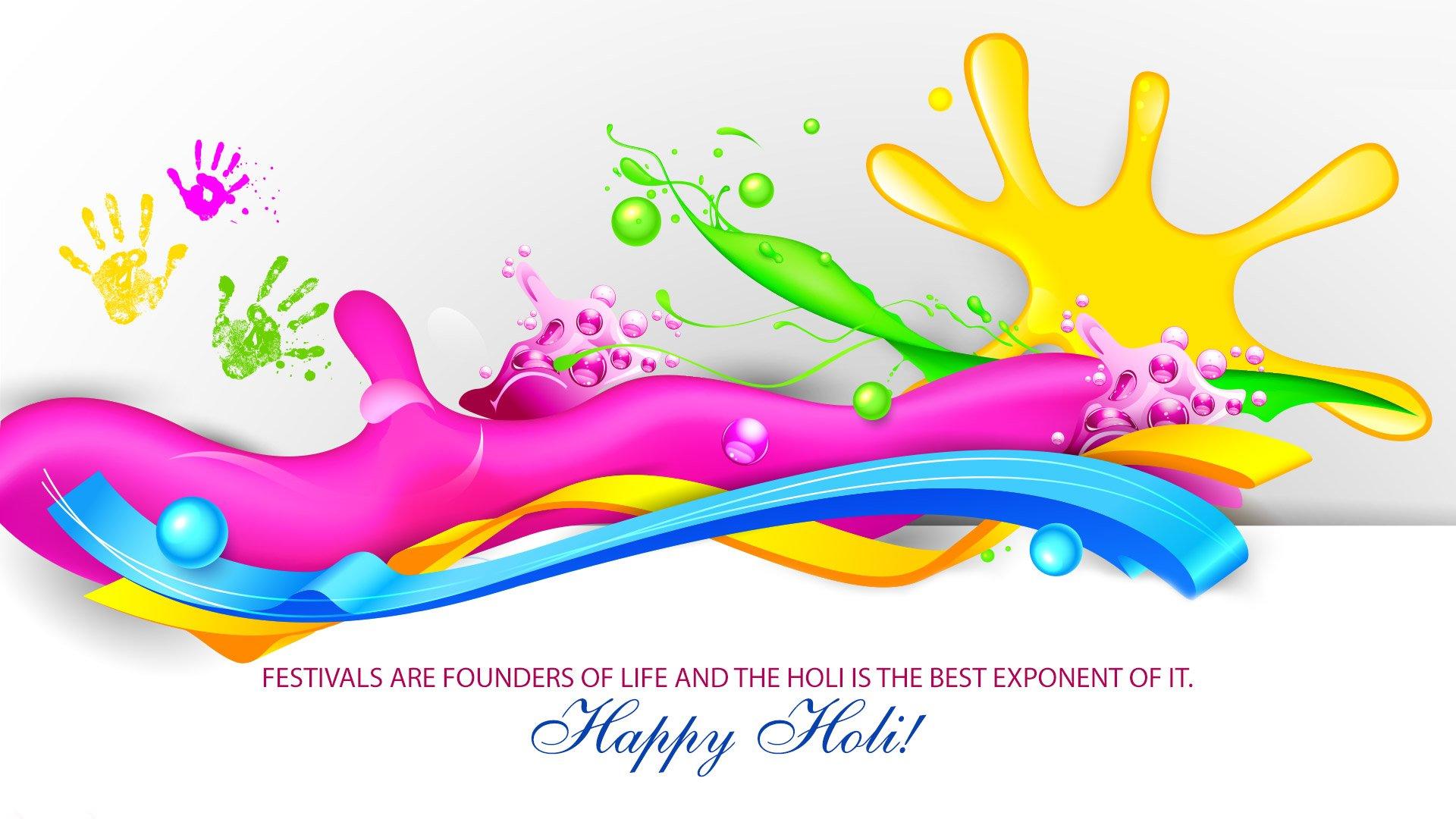 Día festivo - Holi  Colores Fondo de Pantalla