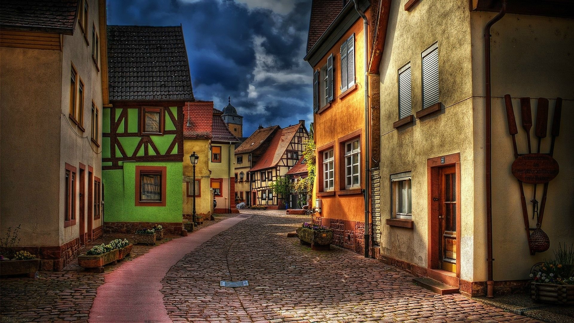 European Street Full HD Wallpaper and Background Image ...