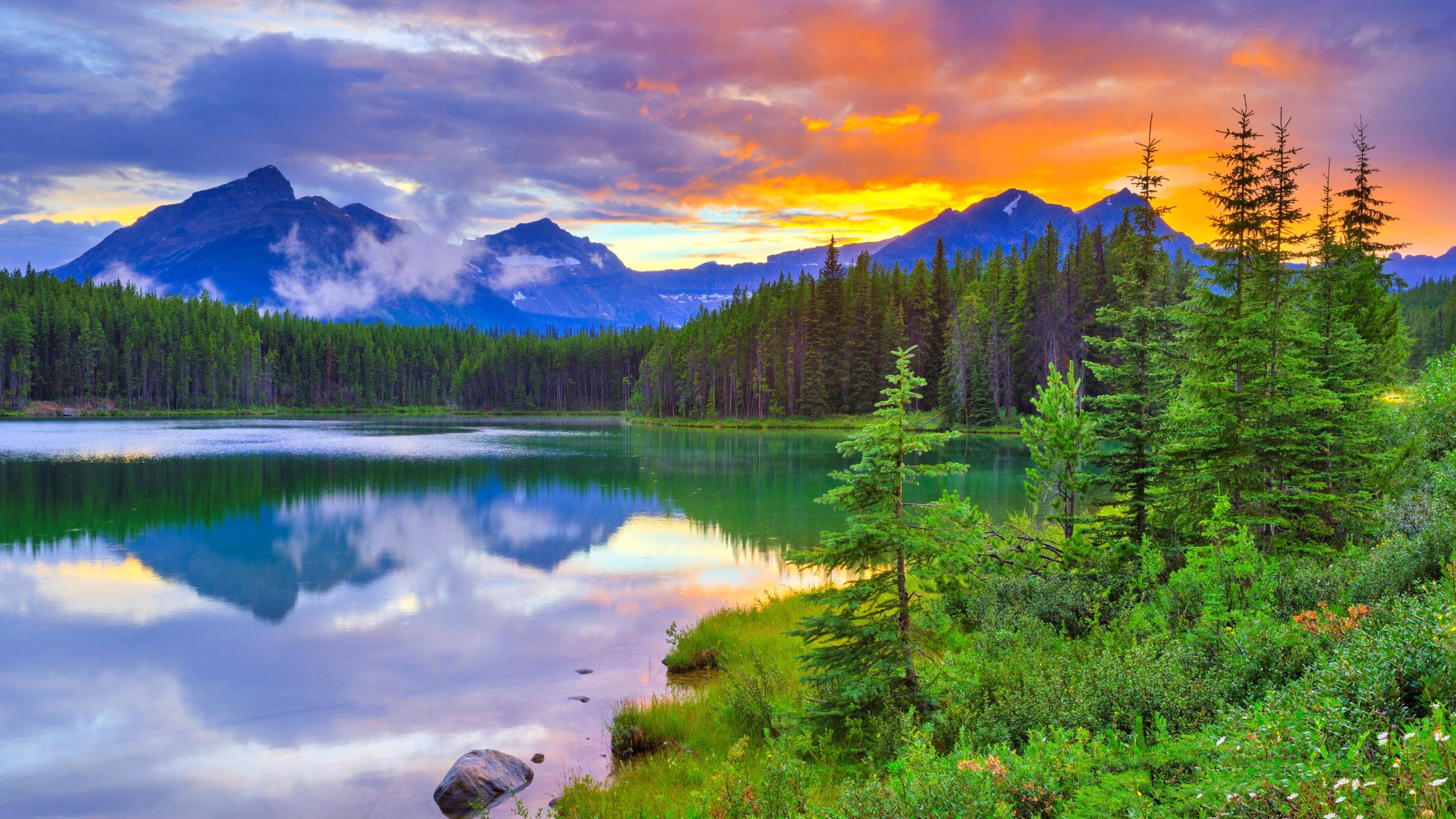 1440x900 sunset lake desktop - photo #40