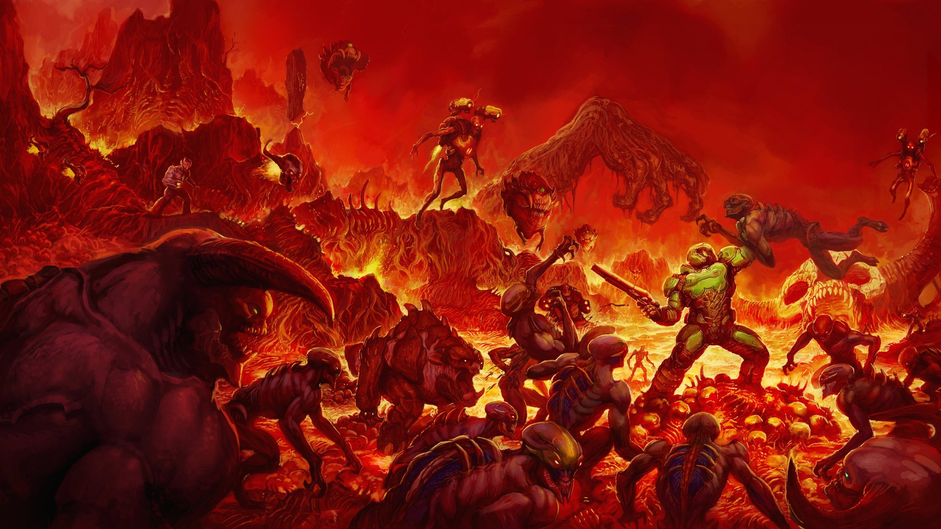 62 Doom 2016 Hd Wallpapers Background Images Wallpaper Abyss