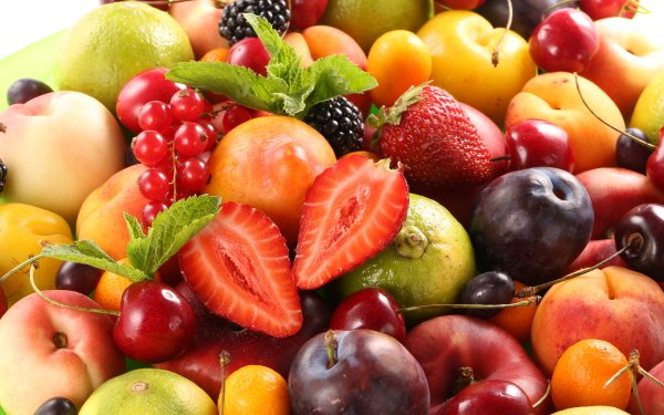 Food Fruit Fruits Berry Peach Plum Strawberry Cherry HD Wallpaper   Background Image