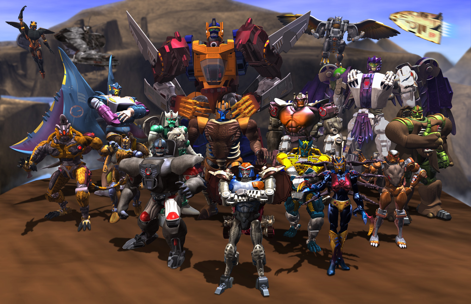 TV-program - Beast Wars  - Beast - Robot Bakgrund