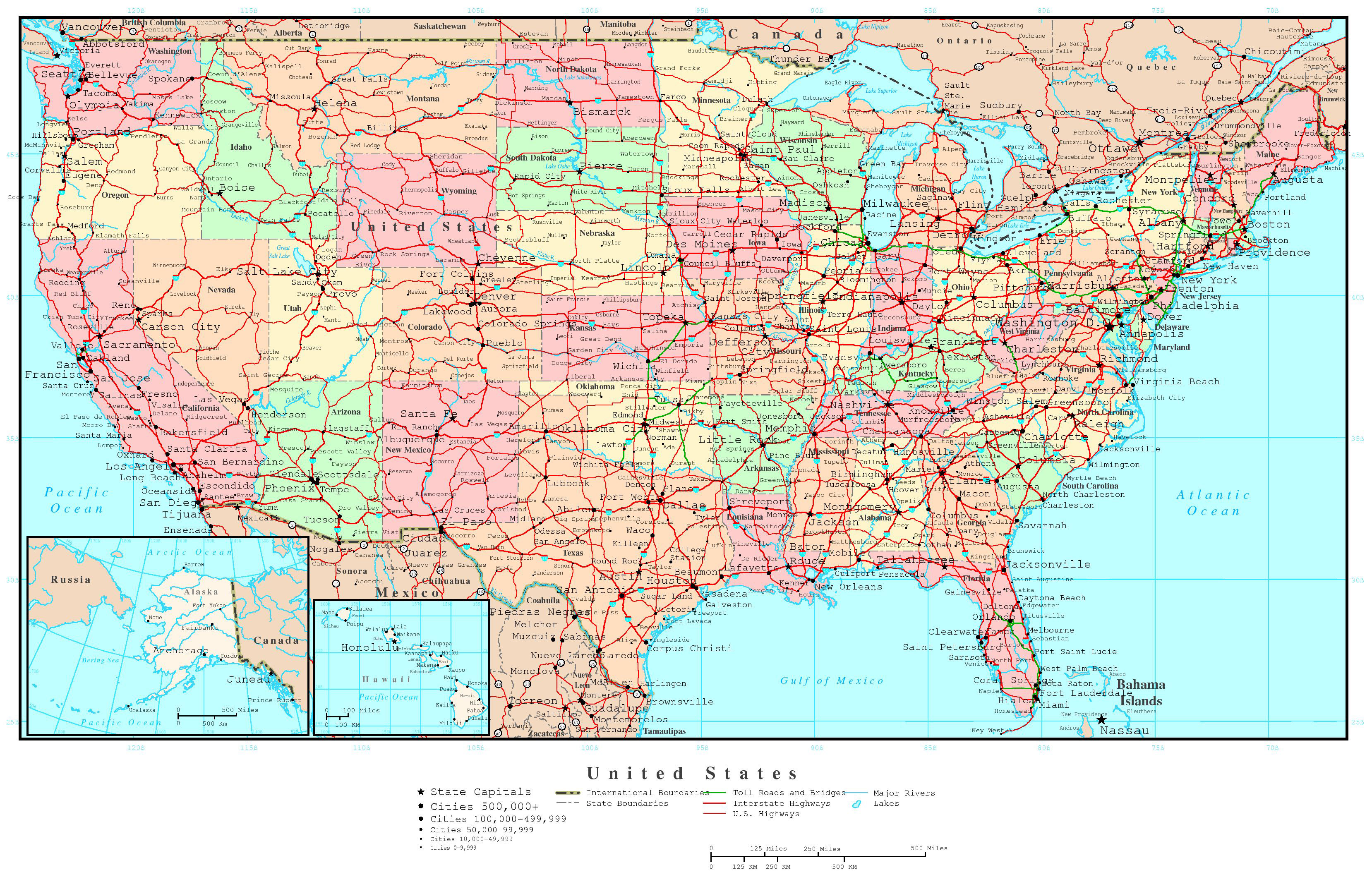 15 United States Of America Map HD Wallpapers | Background Images ...