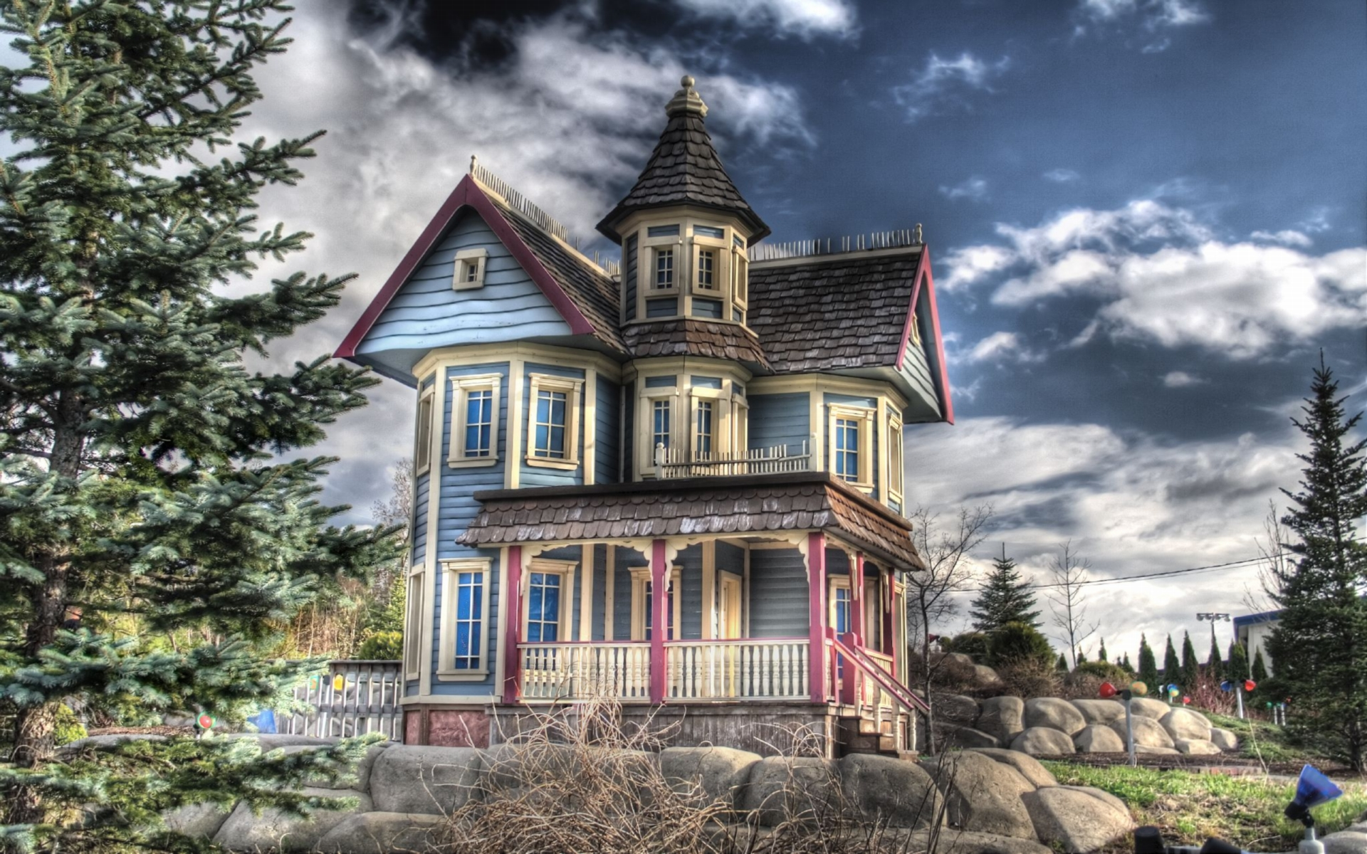 Victorian house full hd wallpaper and background image for Wallpaper of home wall